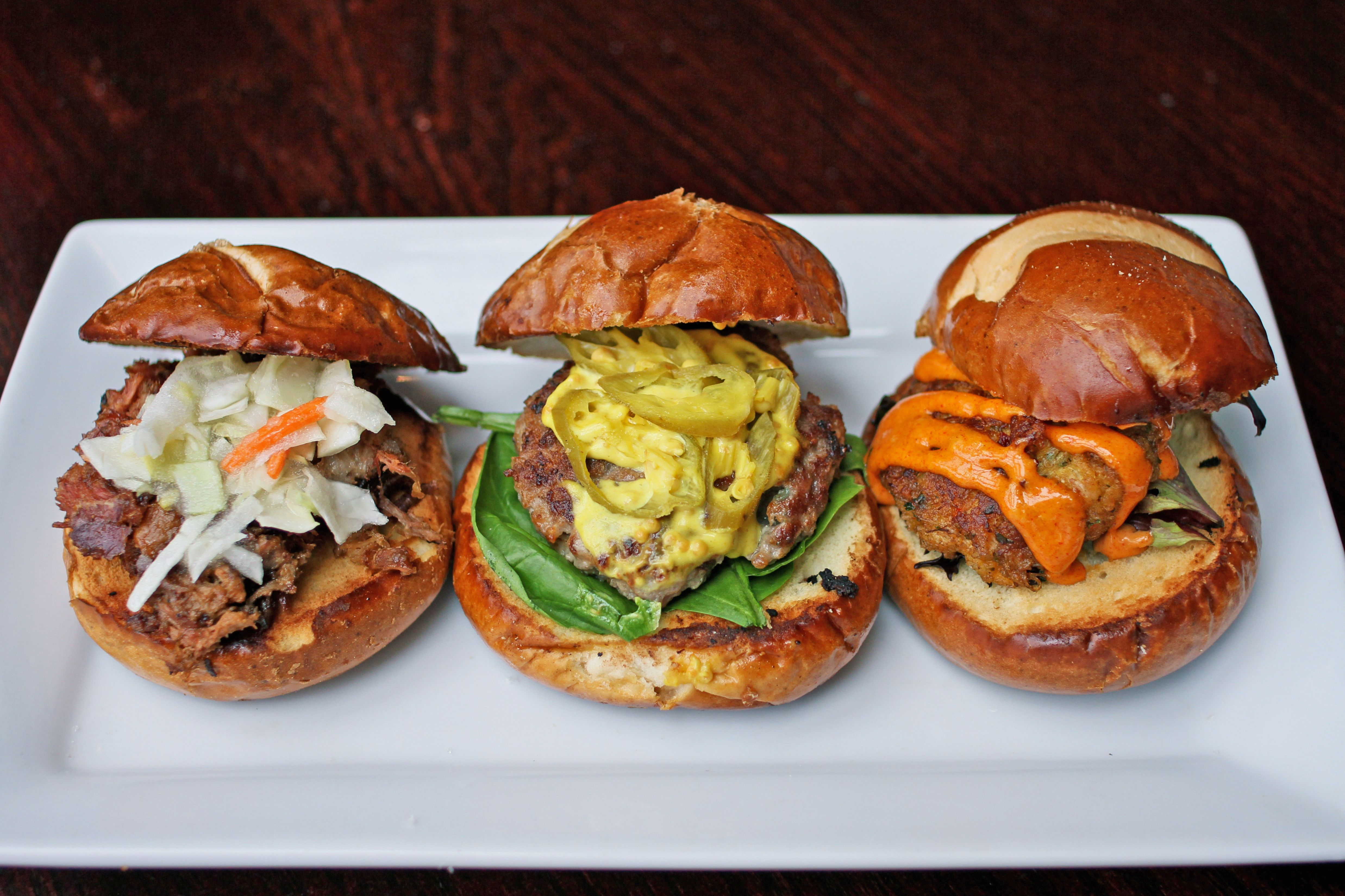 Flight Deck Bar and Grill Takeout Dinning Sliders Trio